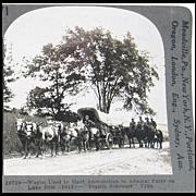 Wagon Used to Haul Ammunition - Keystone Stereo View