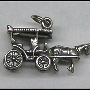SOLD Sterling Horse and Buggy Charm