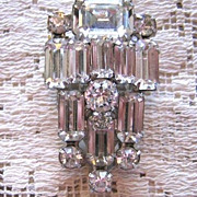 SALE Brilliantly Beautiful WEISS Rhinestone Dress Clip