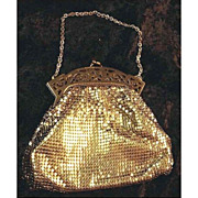 Whiting & Davis Vintage Gold Mesh Purse