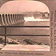 Stereo View of Wilson Dam, Muscle Shoals, Alabama