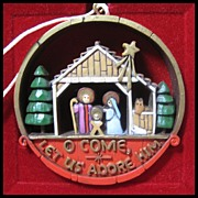 SALE Hallmark Nostalgia Collection Nativity - 1977 Hallmark Ornament