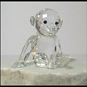 Swarovski Crystal Large Chimpanzee Figure