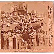 Battleship Iowa - Underwood & Underwood Stereo View