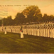 SOLD Dress Parade at U.S. Military Academy, West Point, N.Y. Post Card