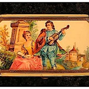Powder Compact with Victorian Scene