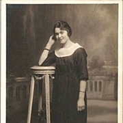SALE Lovely Young French Woman Real Photo Postcard