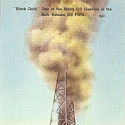 Odessa Texas Oil Gusher Postcard