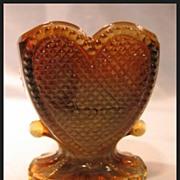 Degenhart Glass Sweetheart Toothpick in Toffee Slag Color