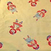 Raggedy Ann and Andy Flocked Fabric
