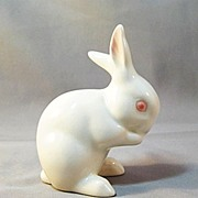 SALE PENDING Goebel White Bunny Rabbit Figure Figurine