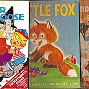 Three Junior Elf Books - Snow-White and the Seven Dwarfs; Little Fox; and Mother Goose