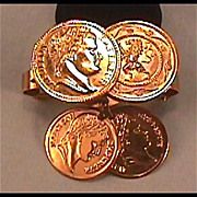 Sara Coventry Coin Scarf Clip