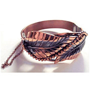 Copper Whiting & Davis Sculpted Bracelet