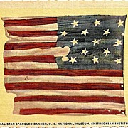 Postcard Depicting the Original Star Spangled Banner, U.S. National Museum, Smithsonian ...