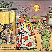 Comical Postcard of Outhouse Humor
