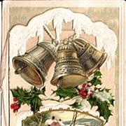 Winsch Christmas Postcard - Card on Card