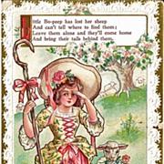 Little Bo Peep Nursery Rhyme Postcard