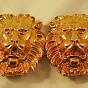 Jeannie Double Lion Head Buckle Dated 1978
