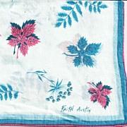 Faith Austin Hankie Handkerchief in Blue and Pink