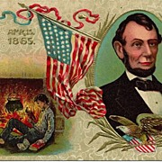SOLD Abraham Lincoln Commemorative Postcard