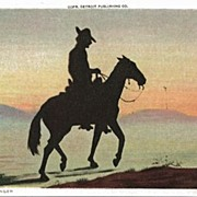 Silhouette Postcard Entitled The Ranger