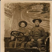 Real Photo Postcard of Soldiers Driving to the 1915 World's Fair