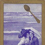 Spooners Delight Postcard -  Couple on Beach