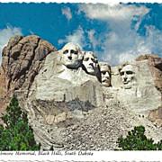 Postcard of Mount Rushmore Memorial, Black Hills, South Dakota