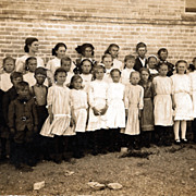 SALE Real Photo Postcard of Children Outside the School