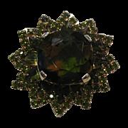 Juliana D&E Pin Large Heliotrope Stone Olivine Accents