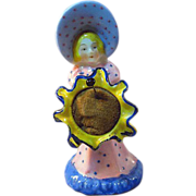 Pin Cushion Sunbonnet Lady Holding Flower