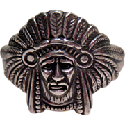Ring American Indian Chief Full Headdress