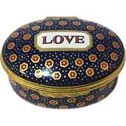Halcyon Days Enamel Box  LOVE