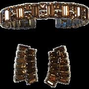Weiss Bangle Bracelet and Earrings Flexible Bangle