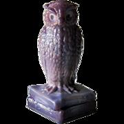 Degenhart Heliotrope Owl Figurine Purple Slag