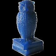 Degenhart Antique Blue Owl Figurine