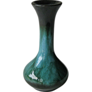Camark Vase Flowing Turquoise and Black