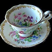 Royal Albert Nosegay Cup Saucer England Bone China