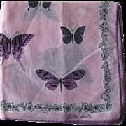 Faith Austin Butterfly Hankie Handkerchief