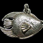Sterling Silver Angel Fish Charm Three Dimensional