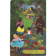 Goldilocks and Three Bears Postcard Fairyland Caverns Rock City Gardens Lookout Mounatin Chata