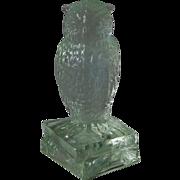 Degenhart Crystal Owl Figurine on Books Signed