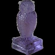Degenhart Heatherbloom Owl Figurine on Books Signed