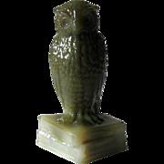 Degenhart Tiger Owl Figurine on Books Signed