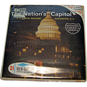 Our Nations Capitol Viewmaster Three Reel Pack / Historic America Series / Collectible Viewmas