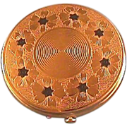 Dorset Fifth Avenue Gold-tone and Enamel Compact / Powder Compact / Fashion Compact / Vintage