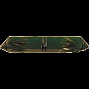 Bakelite Bar Pin Glorious Green / Vintage Bakelite / Vintage Bakelite Pin / Collectible ...