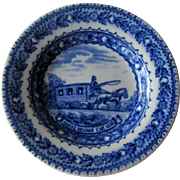 Baltimore & Ohio Railroad Butter Pat / Lamberton China Butter Pat / Railroad China / Collectib