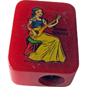 Snow White Bakelite Pencil Sharpener / Disney Pencil Sharpener / Vintage Sharpener / ...